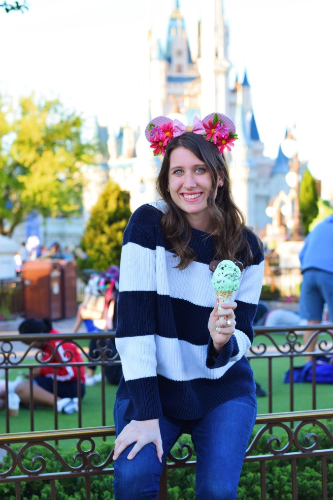 disney trip disney photos mickey ears magic kingdom ice cream spring pictures